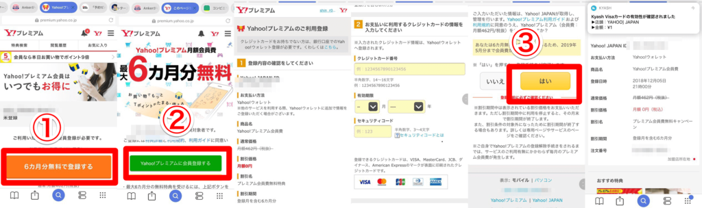 PayPay支払準備Yahoo!プレミアム加入